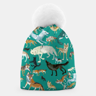 Thumbnail image of Wolves of the World (Green pattern) Gorro, Live Heroes