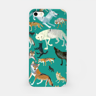 Thumbnail image of Wolves of the World (Green pattern) Carcasa por Iphone, Live Heroes
