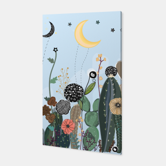 Thumbnail image of Succulents, moon and stars pattern  Canvas, Live Heroes