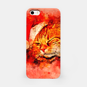 Thumbnail image of gxp cat with christmas hat splatter watercolor iPhone Case, Live Heroes