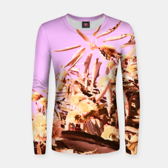 Thumbnail image of Chestnut Tree Impressions on purple Women sweater, Live Heroes