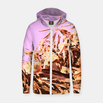 Thumbnail image of Chestnut Tree Impressions on purple Zip up hoodie, Live Heroes
