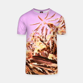 Thumbnail image of Chestnut Tree Impressions on purple T-shirt, Live Heroes