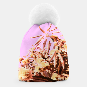 Thumbnail image of Chestnut Tree Impressions on purple Beanie, Live Heroes
