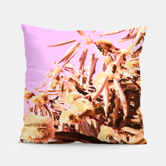 Thumbnail image of Chestnut Tree Impressions on purple Pillow, Live Heroes