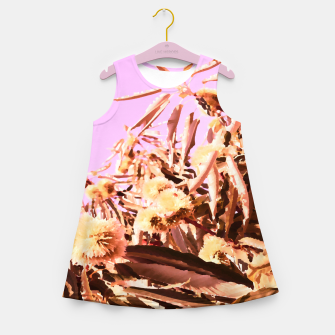 Thumbnail image of Chestnut Tree Impressions on purple Girl's summer dress, Live Heroes