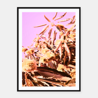Thumbnail image of Chestnut Tree Impressions on purple Framed poster, Live Heroes