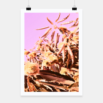 Thumbnail image of Chestnut Tree Impressions on purple Poster, Live Heroes