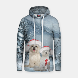 Miniature de image de Christmas cute dogs and squirrel with christmas hat Hoodie, Live Heroes