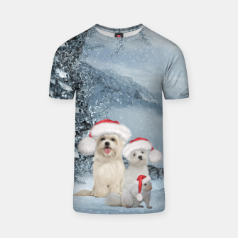 Miniature de image de Christmas cute dogs and squirrel with christmas hat T-shirt, Live Heroes