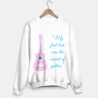 Thumbnail image of Musical quote and guitar Sweater regular, Live Heroes