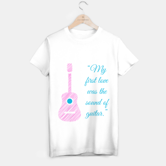 Thumbnail image of Musical quote and guitar T-shirt regular, Live Heroes