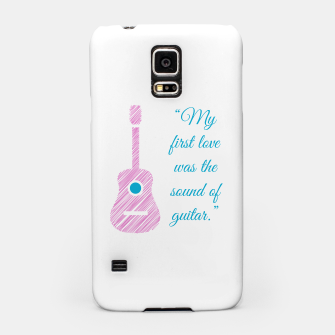 Thumbnail image of Musical quote and guitar Samsung Case, Live Heroes
