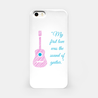 Thumbnail image of Musical quote and guitar iPhone Case, Live Heroes