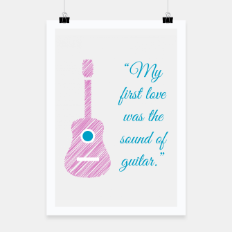 Thumbnail image of Musical quote and guitar Poster, Live Heroes
