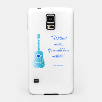 Miniatur Musical guitar quote. Without music, life would be a mistake. Samsung Case, Live Heroes