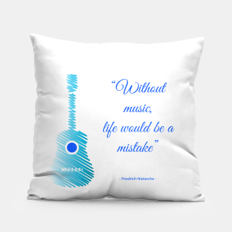 Miniatur Musical guitar quote. Without music, life would be a mistake. Pillow, Live Heroes