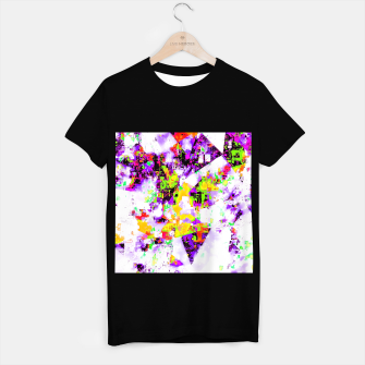 Thumbnail image of geometric triangle pattern abstract in purple yellow green T-shirt regular, Live Heroes