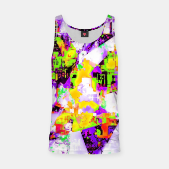 Thumbnail image of geometric triangle pattern abstract in purple yellow green Tank Top, Live Heroes
