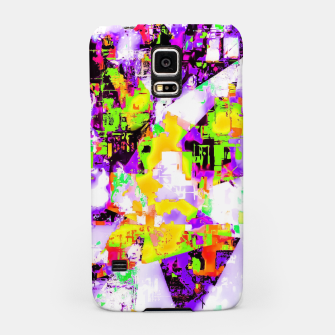 Thumbnail image of geometric triangle pattern abstract in purple yellow green Samsung Case, Live Heroes