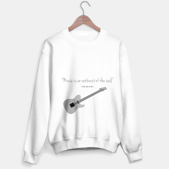 Miniaturka Guitars with a famous quote. Music is an outburst of the soul by Frederick delius Sweater regular, Live Heroes