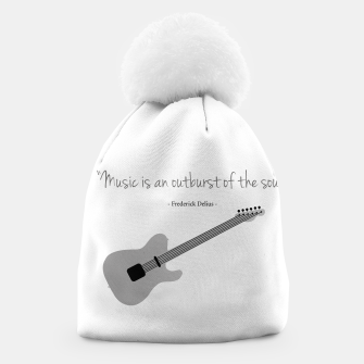 Miniaturka Guitars with a famous quote. Music is an outburst of the soul by Frederick delius Beanie, Live Heroes