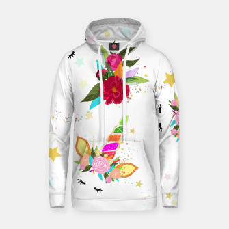 Thumbnail image of Magical unicorn colorful shining pattern with white background Hoodie, Live Heroes