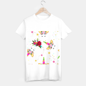 Thumbnail image of Magical unicorn colorful shining pattern with white background T-shirt regular, Live Heroes
