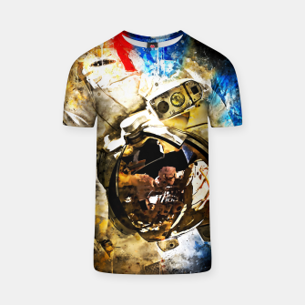 Thumbnail image of gxp astronaut in space splatter watercolor T-shirt, Live Heroes