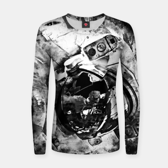 Thumbnail image of gxp astronaut in space splatter watercolor black white Women sweater, Live Heroes
