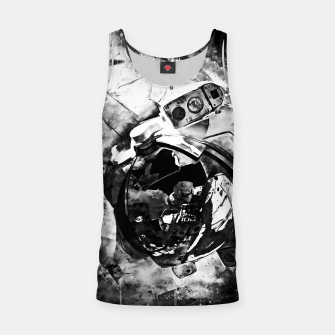 Thumbnail image of gxp astronaut in space splatter watercolor black white Tank Top, Live Heroes