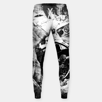 Thumbnail image of gxp astronaut in space splatter watercolor black white Sweatpants, Live Heroes
