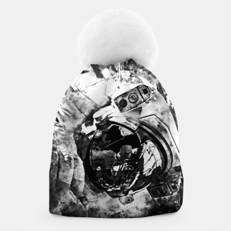Thumbnail image of gxp astronaut in space splatter watercolor black white Beanie, Live Heroes