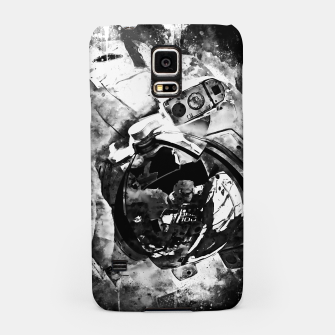 Thumbnail image of gxp astronaut in space splatter watercolor black white Samsung Case, Live Heroes