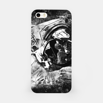 Thumbnail image of gxp astronaut in space splatter watercolor black white iPhone Case, Live Heroes