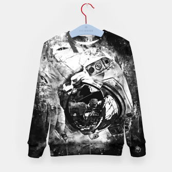 Thumbnail image of gxp astronaut in space splatter watercolor black white Kid's sweater, Live Heroes