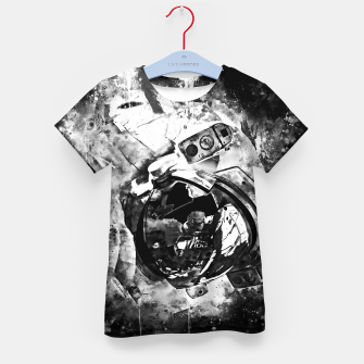 Thumbnail image of gxp astronaut in space splatter watercolor black white Kid's t-shirt, Live Heroes