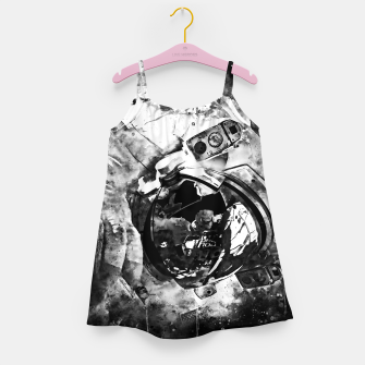 Thumbnail image of gxp astronaut in space splatter watercolor black white Girl's dress, Live Heroes