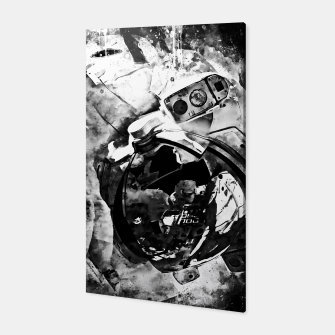 Thumbnail image of gxp astronaut in space splatter watercolor black white Canvas, Live Heroes