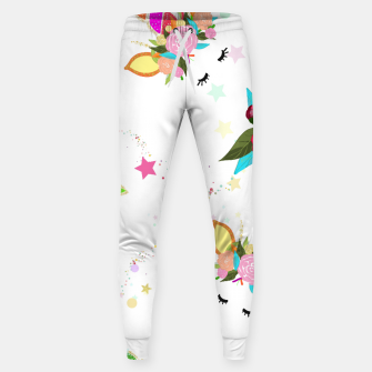 Thumbnail image of Magical unicorn colorful shining pattern with white background Sweatpants, Live Heroes