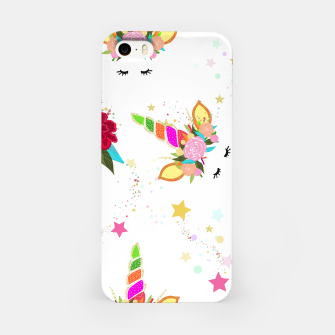 Thumbnail image of Magical unicorn colorful shining pattern with white background iPhone Case, Live Heroes