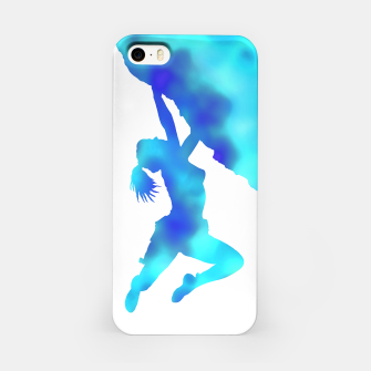 Thumbnail image of blue bouldering ecstacy iPhone case, Live Heroes