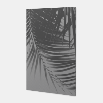 Thumbnail image of Palm Leaves Gray Vibes #1 #tropical #decor #art Canvas, Live Heroes