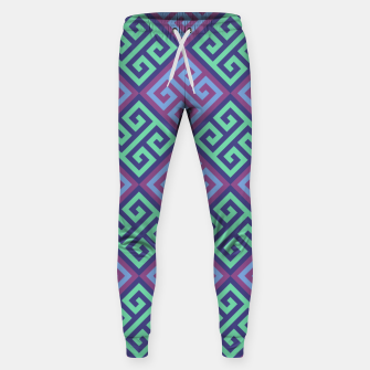 Thumbnail image of Ornate Twists Geometric Pattern - Blue & Purple Sweatpants, Live Heroes