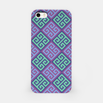 Thumbnail image of Ornate Twists Geometric Pattern - Blue & Purple iPhone Case, Live Heroes
