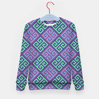 Thumbnail image of Ornate Twists Geometric Pattern - Blue & Purple Kid's sweater, Live Heroes