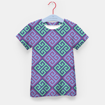 Thumbnail image of Ornate Twists Geometric Pattern - Blue & Purple Kid's t-shirt, Live Heroes