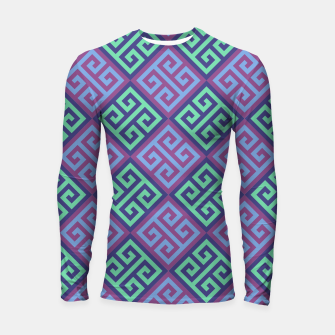 Thumbnail image of Ornate Twists Geometric Pattern - Blue & Purple Longsleeve rashguard , Live Heroes