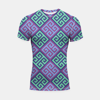 Thumbnail image of Ornate Twists Geometric Pattern - Blue & Purple Shortsleeve rashguard, Live Heroes