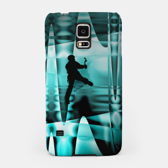 Miniatur climbing the frozen waterfall iPhone case, Live Heroes